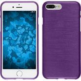 Silikon Hülle iPhone 8 Plus brushed lila