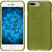 Silicone Case iPhone 8 Plus brushed pastel green + protective foils