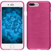 Silikon Hülle iPhone 8 Plus brushed pink + 2 Schutzfolien