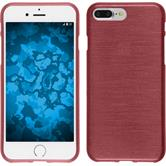 Silicone Case iPhone 8 Plus brushed pink + protective foils