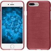 Silikon Hülle iPhone 8 Plus brushed rosa + 2 Schutzfolien