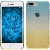 Silikon Hülle iPhone 7 Plus / 8 Plus Ombrè Design:02 + 2 Schutzfolien