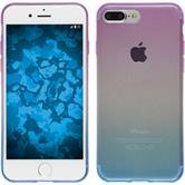 Silicone Case iPhone 8 Plus Ombrè Design:04 + protective foils