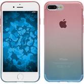 Silikon Hülle iPhone 7 Plus / 8 Plus Ombrè Design:06 + 2 Schutzfolien