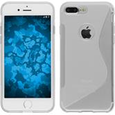 Silikon Hülle iPhone 8 Plus S-Style clear + 2 Schutzfolien