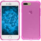 Silicone Case iPhone 8 Plus Shock-Proof pink + protective foils