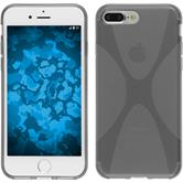 Silicone Case iPhone 8 Plus X-Style gray + protective foils