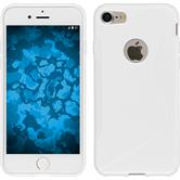 Silikon Hülle iPhone 7 S-Style weiß