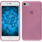 Silikon Hülle iPhone 7 / 8 transparent rosa + 2 Schutzfolien