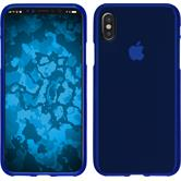 Silikon Hülle iPhone X matt blau Case