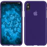 Silikon Hülle iPhone X matt lila Case