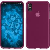 Silikon Hülle iPhone X matt pink Case