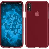 Silikon Hülle iPhone X matt rot Case