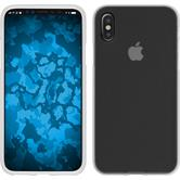 Silikon Hülle iPhone X matt weiß Case