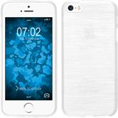 Silikon Hülle iPhone SE brushed weiß