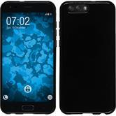 Silikon Hülle Zenfone 4 ZE554KL  schwarz + 2 Schutzfolien