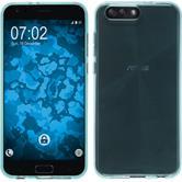 Silikon Hülle Zenfone 4 ZE554KL transparent türkis + 2 Schutzfolien