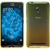 Silikon Hülle Zenfone Go (ZC500TG) Ombrè Design:03 + 2 Schutzfolien