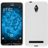 Silikon Hülle Zenfone Go (ZC500TG) S-Style weiß