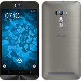 Silikon Hülle Zenfone Selfie Slimcase grau + 2 Schutzfolien