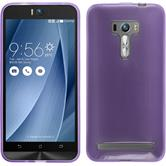 Silikon Hülle Zenfone Selfie transparent lila + 2 Schutzfolien