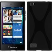 Silikonhülle für BlackBerry Leap X-Style schwarz