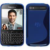 Silikon Hülle Q20 S-Style blau Case