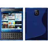 Silikon Hülle Q30 S-Style blau + 2 Schutzfolien