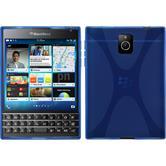 Silikon Hülle Q30 X-Style blau + 2 Schutzfolien