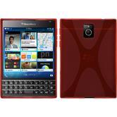 Silikon Hülle Q30 X-Style rot + 2 Schutzfolien