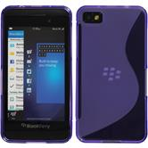 Silicone Case for BlackBerry Z10 S-Style purple