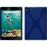 Silicone Case for Google HTC Nexus 9 X-Style blue