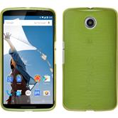 Silikon Hülle Nexus 6 brushed pastellgrün + 2 Schutzfolien