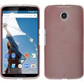 Silikon Hülle Nexus 6 brushed rosa + 2 Schutzfolien