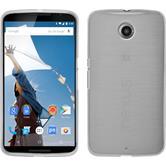 Silikon Hülle Nexus 6 brushed weiß + 2 Schutzfolien