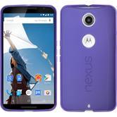 Silikon Hülle Nexus 6 transparent lila Case