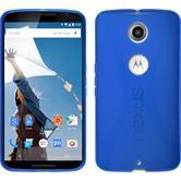 Silikon Hülle Nexus 6 X-Style blau