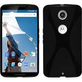Silikon Hülle Nexus 6 X-Style schwarz Case