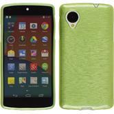 Silikon Hülle Nexus 5 brushed pastellgrün + 2 Schutzfolien