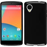 Silikon Hülle Nexus 5 Candy schwarz + 2 Schutzfolien
