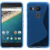 Silikon Hülle Nexus 5X S-Style blau