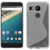 Silikon Hülle Nexus 5X S-Style clear + 2 Schutzfolien
