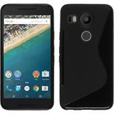 Silikon Hülle Nexus 5X S-Style schwarz