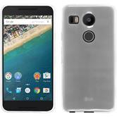 Silikon Hülle Nexus 5X transparent weiß + 2 Schutzfolien