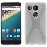 Silikon Hülle Nexus 5X X-Style clear + 2 Schutzfolien