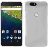 Silikon Hülle Nexus 6P S-Style clear + 2 Schutzfolien