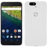 Silikon Hülle Nexus 6P S-Style weiß + 2 Schutzfolien