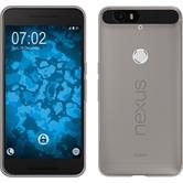 Silikon Hülle Nexus 6P Slimcase grau + 2 Schutzfolien