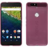 Silikon Hülle Nexus 6P transparent rosa + 2 Schutzfolien