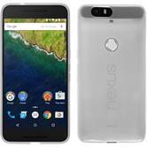 Silikon Hülle Nexus 6P transparent weiß + 2 Schutzfolien